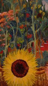 allotment sunflower & toms print