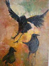3 crows print