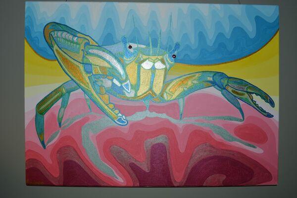 Beady eyed crab