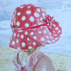 Little Red Polka Dot Hat