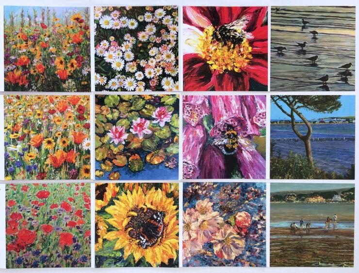 All 12 Wildflower & Coastal cards