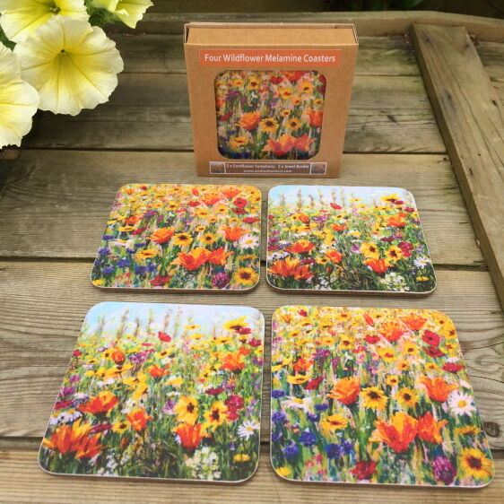 Pack of 4 melamine coasters
