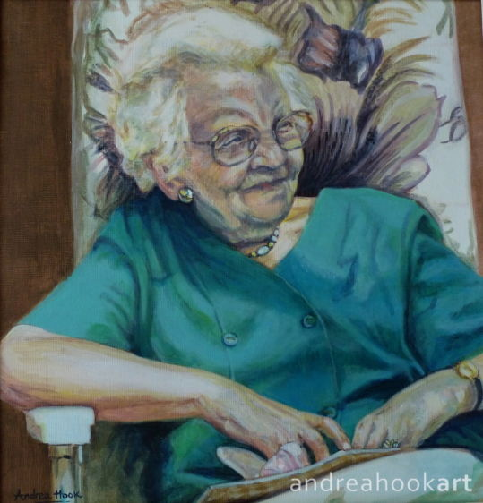 A portrait of a special lady called Rose by Dorset Artist Andrea Hook
