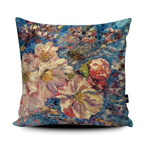 Honeybee Blossom Super soft wildflower Cushion
