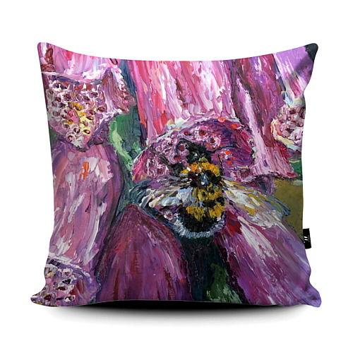 Foxglove Bumble bee super soft cushion