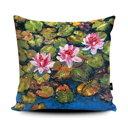Waterlily Dragonfly Cushion