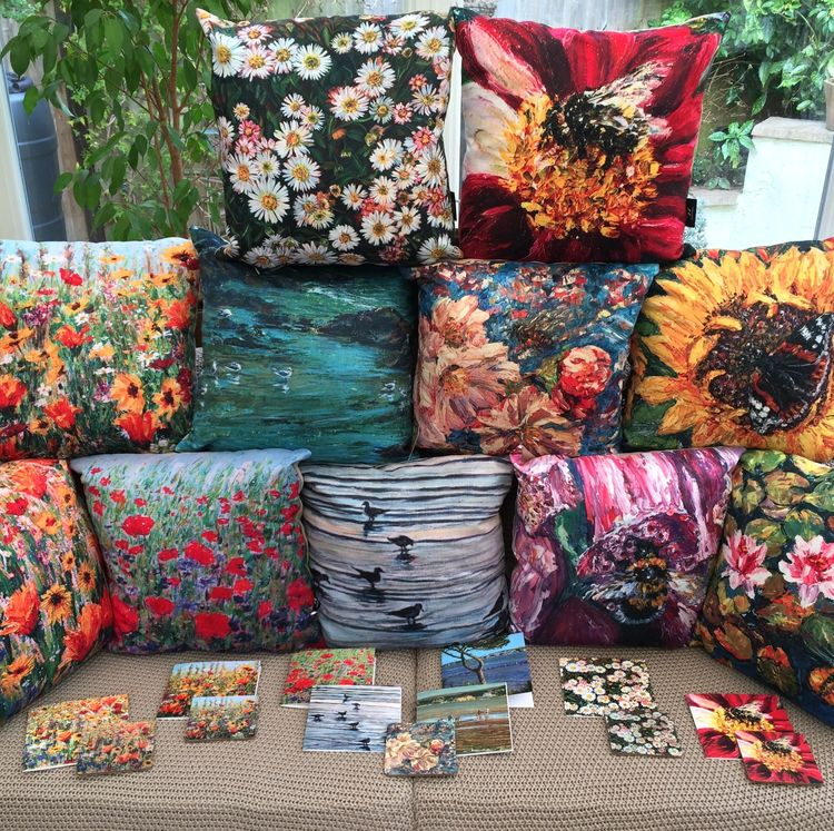 Dorset Wildflower & Coastal Cards & Cushions