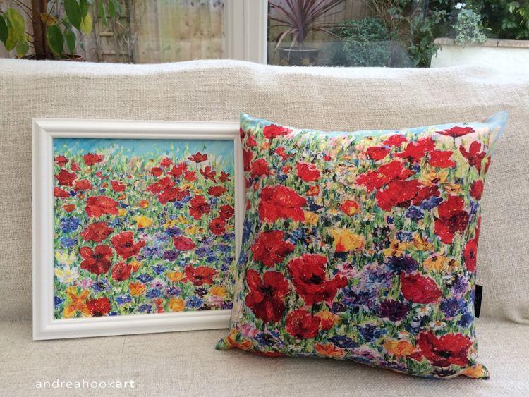 Bee Happy - Painting & Cushion