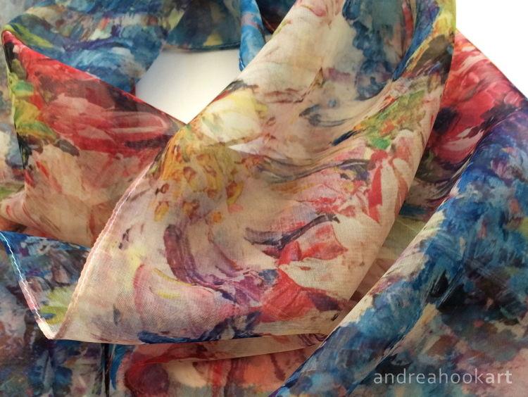 'Blossom' Paris Chiffon Scarf - detail