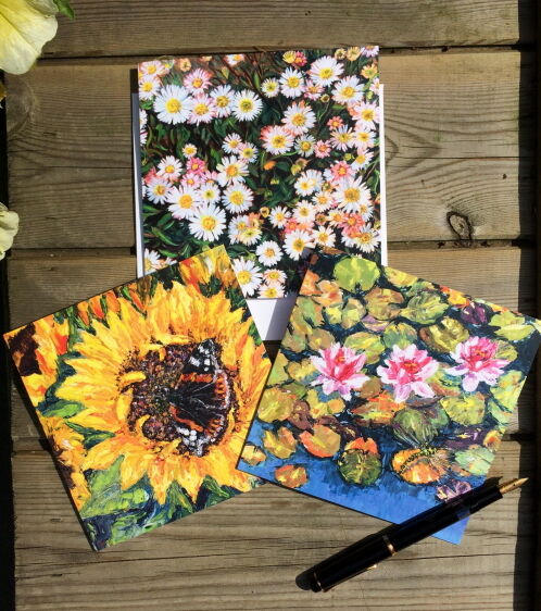 NEW Butterfly, Dragonfly & Daisy Blank Greeting Cards