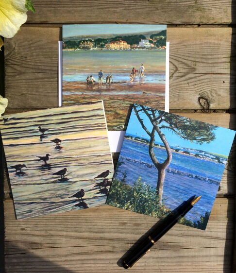 Set of 3 Coastal Blank Greeting Cards