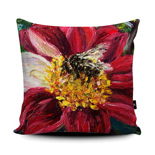 Dahlia Bumblebee super soft Cushion