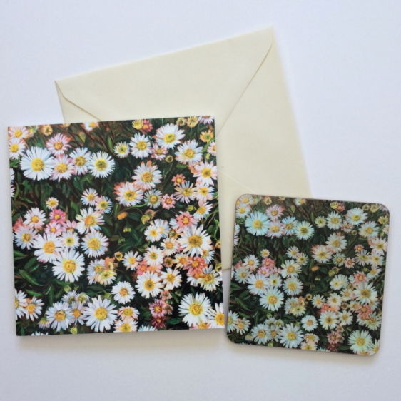 Daisy Card and coaster