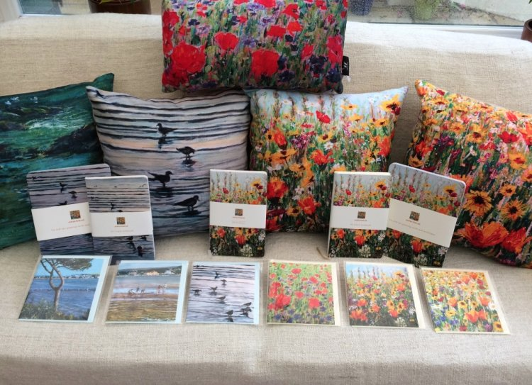 Dorset Wildflower & Coastal Stationery & Cushions