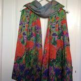 Poppies & Cornflowers scarf