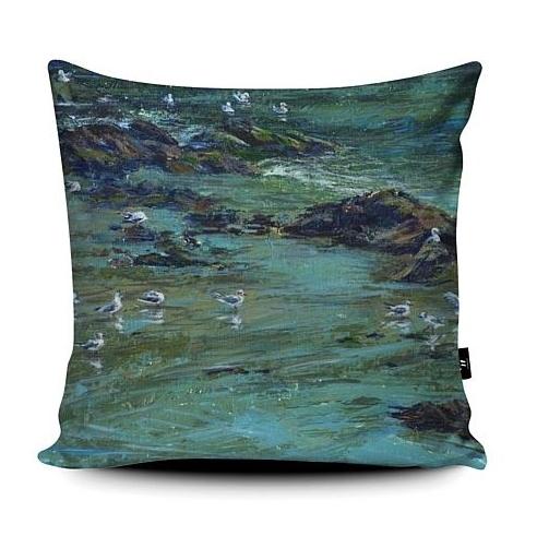Harbourside coastal super soft cushion teal