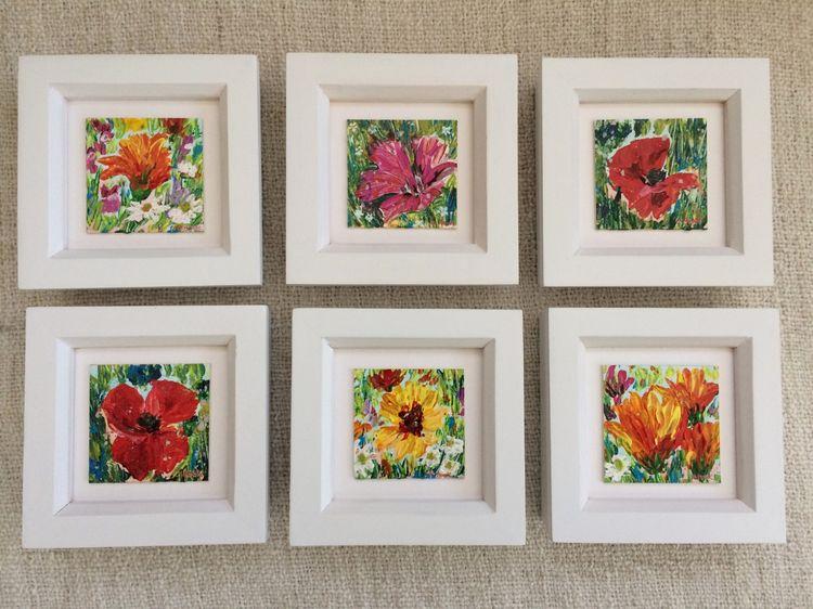 Miniature Wildflower Paintings