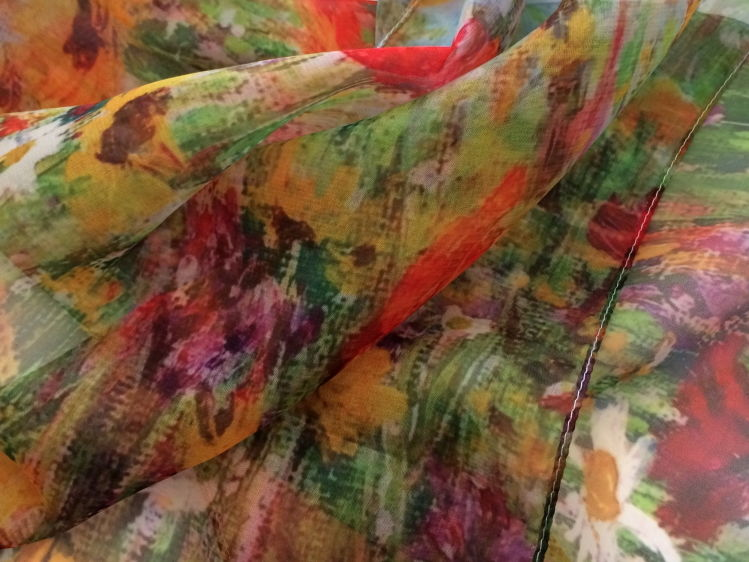 'Jewel Border' Paris Chiffon scarf - detail
