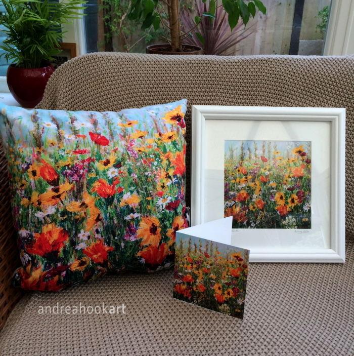 Jewel Border Cushion, Framed Print & Card