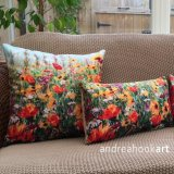 Jewel Border as cushions - 45 cms square & 50 x 30 cms