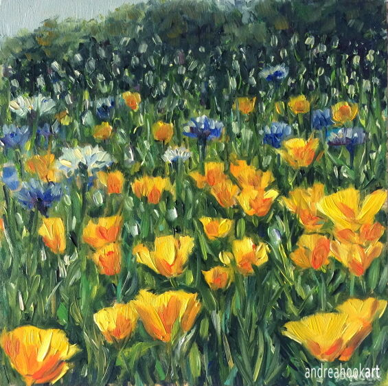 Wildflowers, Yellows and Blues: £85