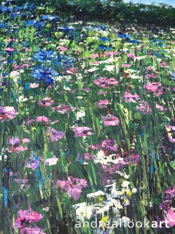 Pink & Blue - detail 2