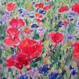 Poppies & Cornflowers - detail