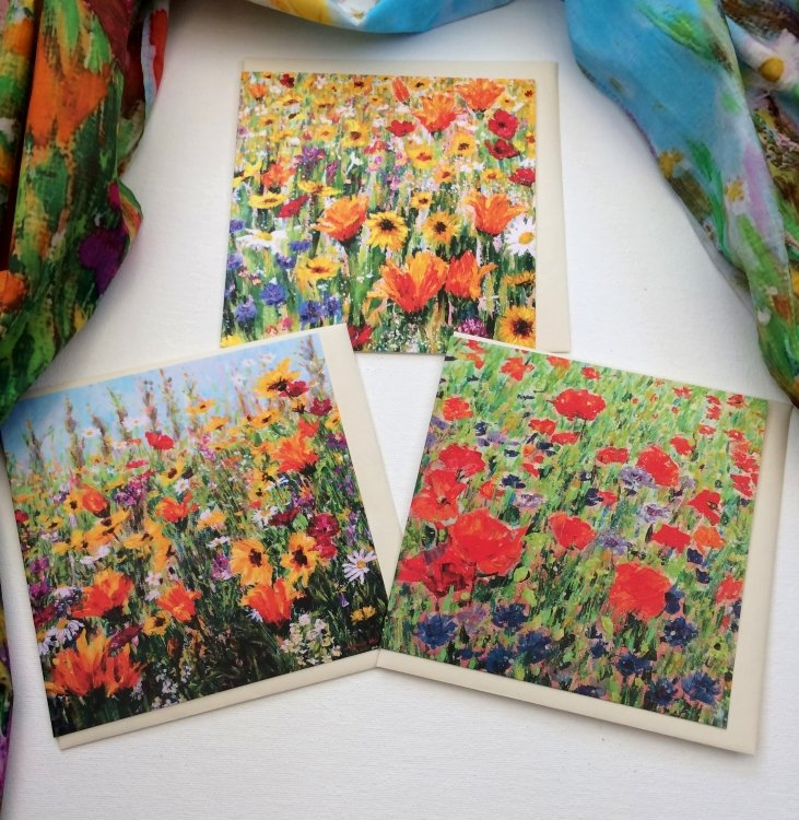Etsy: Set of 3 Wildflower Cards