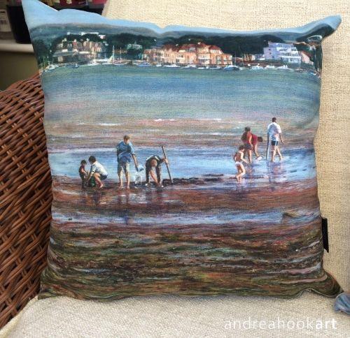 Low Tide Poole Harbour Cushion Coastal super soft cushion