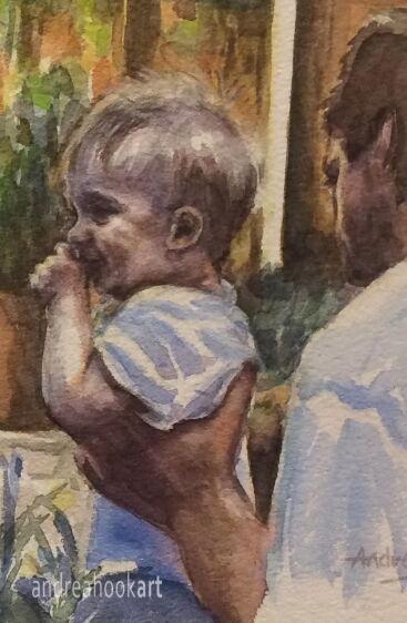 Portrait 2 - detail from 'Family Bubbles'