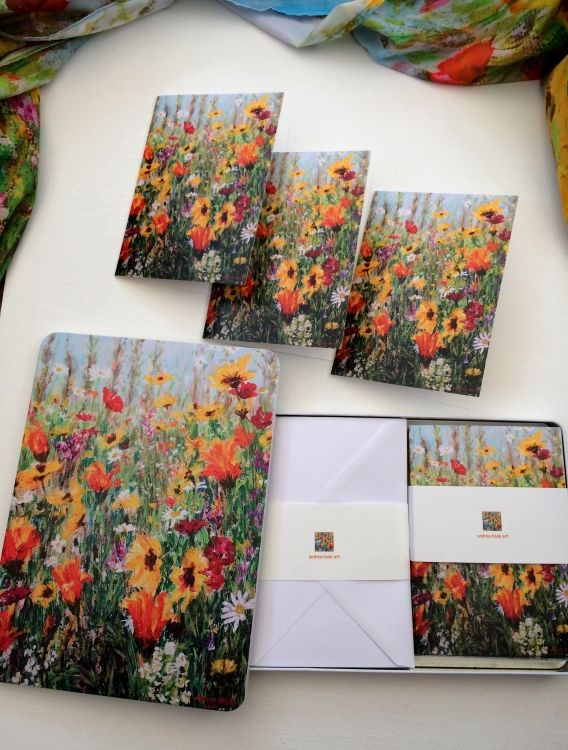 Wildflower tin of 10 cards & envelopes