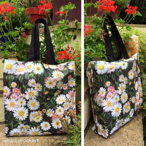 Daisy Tote Bag: Seasons Green