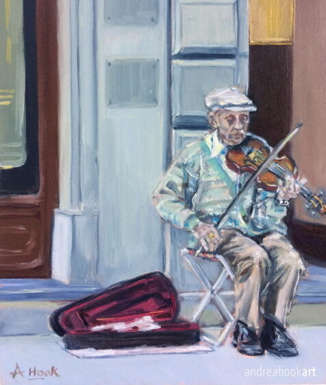 The Busker, Florence: Sold