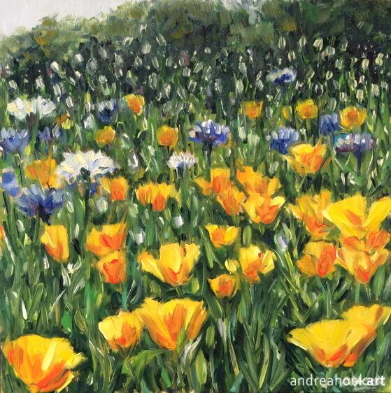 Wildflowers, Yellow & Blue