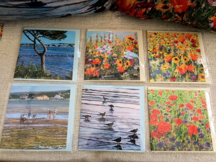 six Dorset Wildflower and Coastal cards by Dorset Artist Andrea Hook