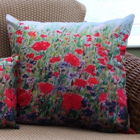 Poppies & Cornflowers Cushion