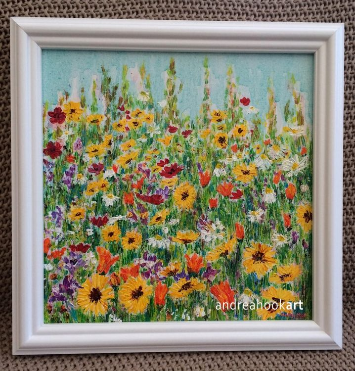 Floral Dance - framed painting - SOLD