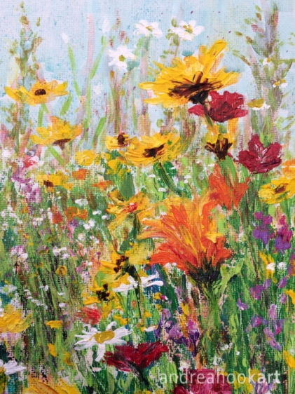 An original painting of wildflowers by Dorset Artist Andrea Hook