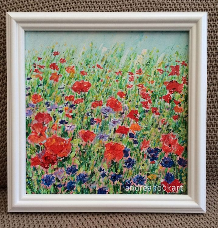 Poppies & Cornflowers - framed painting SOLD
