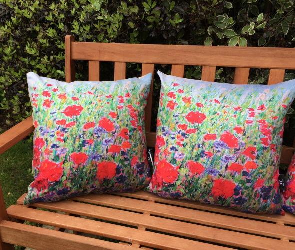 Poppies & Cornflowers Cushions