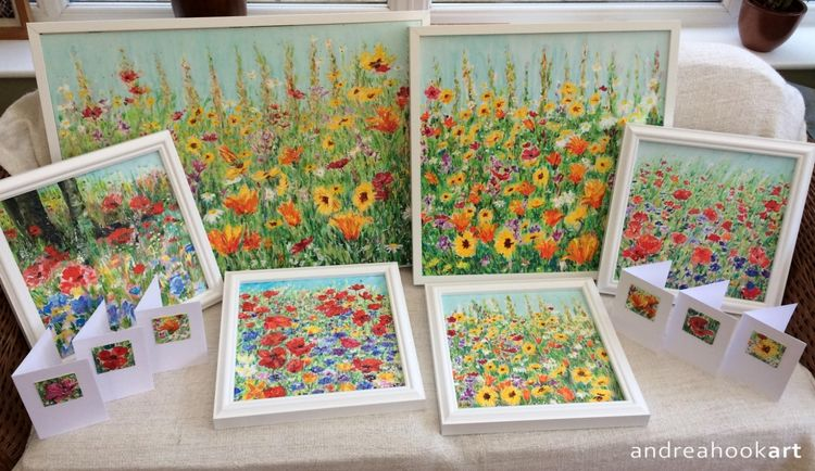 Sunny Side Up & Jewel Carriageway with smaller paintings