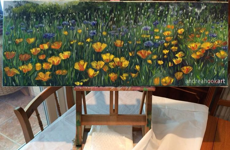 Yellow & Blue on the easel