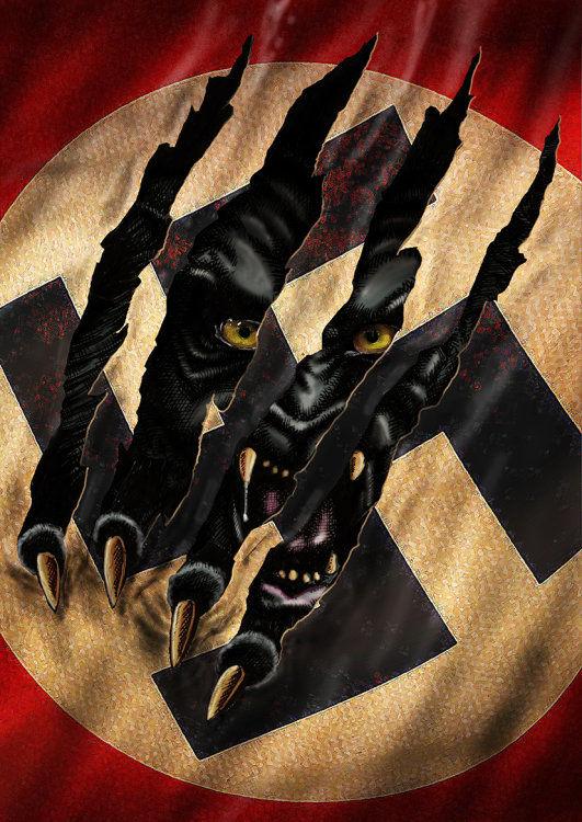 Graphic novel sketch - swastika