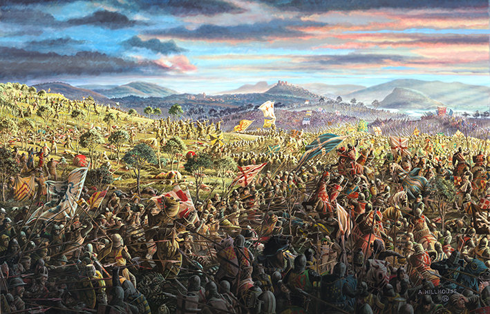 Battle of Bannockburn,Day Two, Mon 24th June, 1314