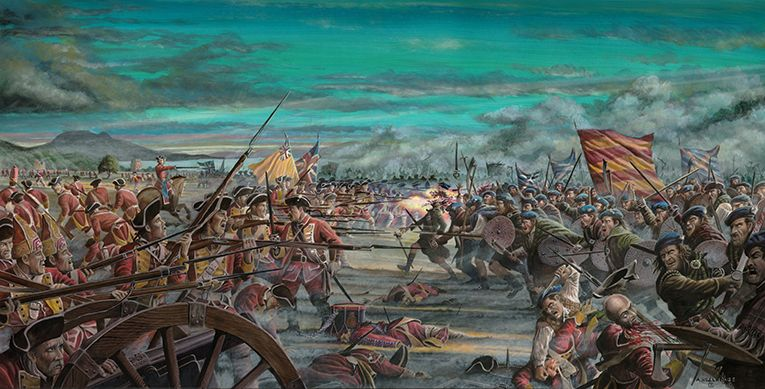 Charge of the Camerons - Battle of Prestonpans