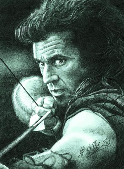 Mel Gibson; archer