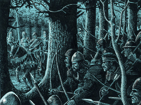William Wallace ambushes Lord Butler near Kinclaven
