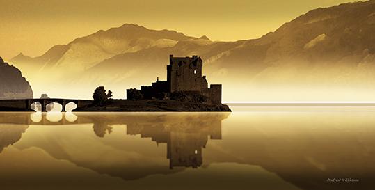 eilean donan castle graphic