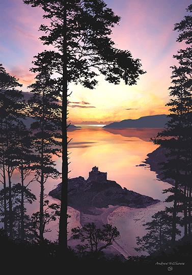 sunset, Castle Tioram