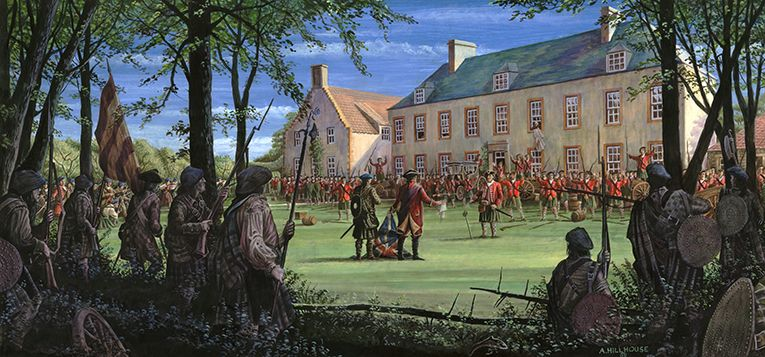 Surrender of Cockenzie House - Battle of Prestonpans